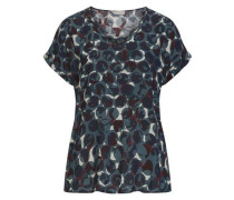 Bluse im Casual Stil mit Allover Camouflage Muster dunkelblau / petrol