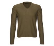 Pullover mit V-Ausschnitt khaki
