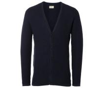 Weicher Strick-Cardigan blau