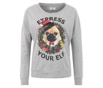 Sweatshirt mit Print 'ONLMerry' grau