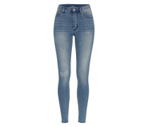 High Waist Denim 'Second Skin' blau