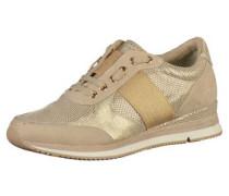 Sneaker mit besonderer Schnürung beige