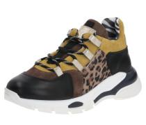 Sneaker braun / gelb / schwarz