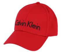 Kappe mit Logo-Stitching rot