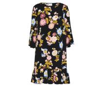 Kleid mit Dreiviertelarm 'bestia' blau / navy / gelb / rosa
