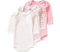 3er-Pack Bodys für Mädchen rosa