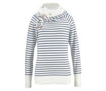 Kapuzensweatshirt taubenblau / weiß