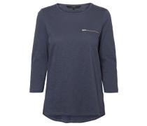 Lässiges Shirt mit 3/4 Ärmeln marine