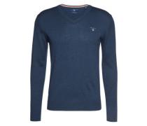 Pullover mit V-Ausschnitt dunkelblau