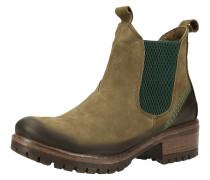 Chelsea Boots braun / oliv / dunkelgrün