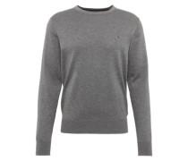 Feinstrick-Pullover mit Seide grau