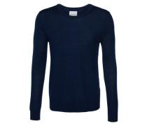 Pullover aus Merinowolle 'Loke' dunkelblau
