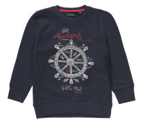 Sweatshirt für Jungen dunkelblau / rot / weiß