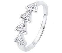 Silberring: Ring mit Zirkonia silber