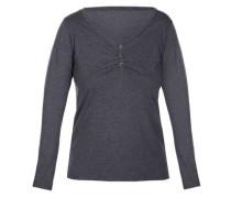 Langarm-Shirt 'melange Mix&match' graumeliert