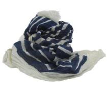 Schals 'gestreift' blau / weiß