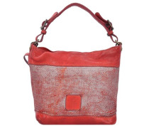 'Fiore di Loto' Henkeltasche Leder 23 cm rot