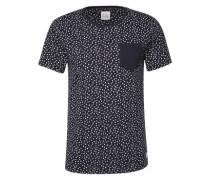 T-Shirt 'triangle aop' navy