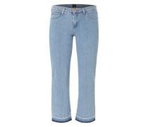Skinny Boot Cropped Jeans hellblau