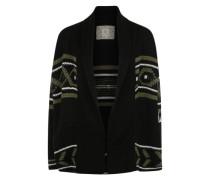 Strickjacke 'Broome' schwarz / weiß