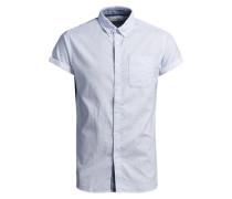 Button-Down-Kurzarmhemd blau