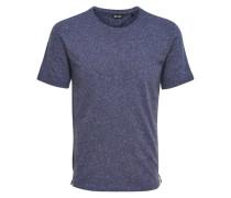 Strukturiertes T-Shirt blau