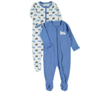 Schlafanzug 2er-Pack Nachtwäsche himmelblau / weiß