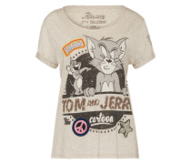 Shirt mit Cartoon-Print grau