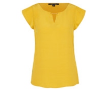 Kurzarm Bluse gelb