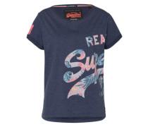 Shirt mit Print dunkelblau / mischfarben