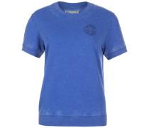 Burnout T-Shirt Damen royalblau