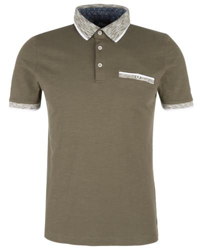 Poloshirt brokat / weiß