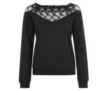 Sweater mit Spitze schwarz