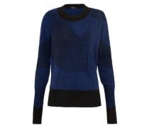 Pullover 'pike Knit Ccb' blau / schwarz