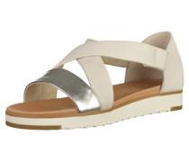 Sandalen beige / silber