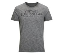 Lässiges-T-Shirt graumeliert