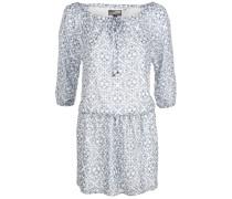 Tunika Kleid blau / weiß