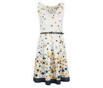 Kleid im Retro-Look 'Buttercup Spot' blau / gelb / weiß