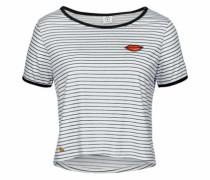T-Shirt 'ysabel' blau / naturweiß