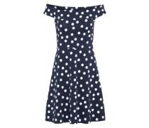 Kleid 'abito' blau / weiß