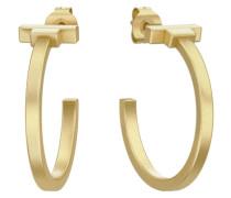 PJS vergoldete runde Ohrringe gold
