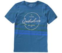 T-Shirt 'silvered' blau / hellblau / gelb / grün