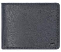 'London' Geldbörse Querformat Leder 12 cm schwarz