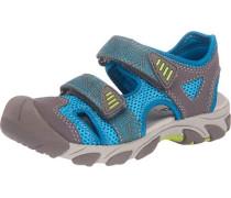 Kinder Sandalen WMS-Weite M4 blau / grau
