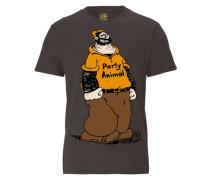 T-Shirt Popeye - Party - Animal braun / schlammfarben / orange