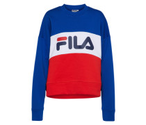 Sweater mit Logoprint royalblau / rot / weiß