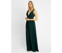 Abendkleid aus Chiffon dunkelgrün