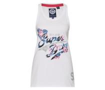 Top 'stacker Jungle Vest' blau / pink / weiß