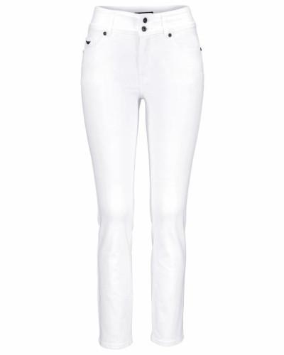 High-waist-Jeans 'Ankle-Slim' weiß