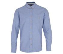 Hemd 'Dean 07a Plain' blau